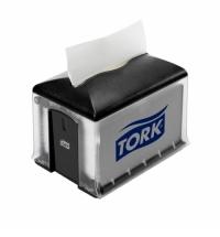 Диспенсер для салфеток Tork Interfold N4 272608, настольный, на 200шт, черный