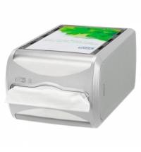 Диспенсер для салфеток Tork Interfold N4 272500, настольный, на 400шт, серый