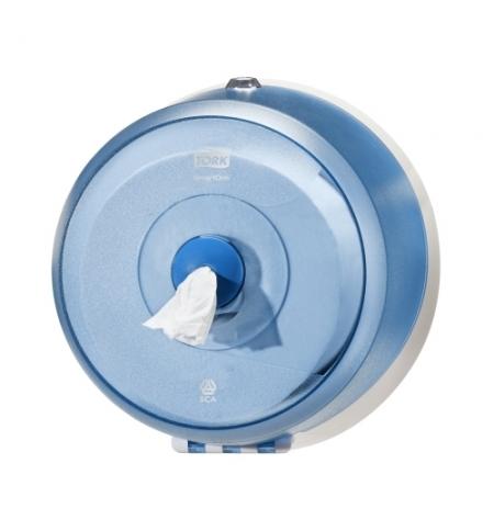 фото: Диспенсер для туалетной бумаги в рулонах Tork Wave T9 472025, с центральной вытяжкой, мини, синий