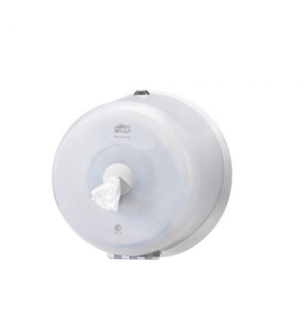 фото: Диспенсер для туалетной бумаги в рулонах Tork Wave T9 472026, с центральной вытяжкой, мини, белый