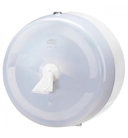 фото: Диспенсер для туалетной бумаги в рулонах Tork Wave T8 472022, с центральной вытяжкой, белый