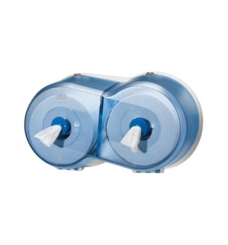 фото: Диспенсер для туалетной бумаги в рулонах Tork Wave T9 472027, с центральной вытяжкой, мини, синий