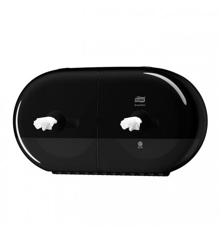 фото: Диспенсер для туалетной бумаги в рулонах Tork SmartOne T9 682008, с центральной вытяжкой, черный