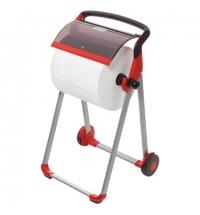 Держатель для протирочной бумаги в рулонах Tork Performance W1 652008, напольный, красный