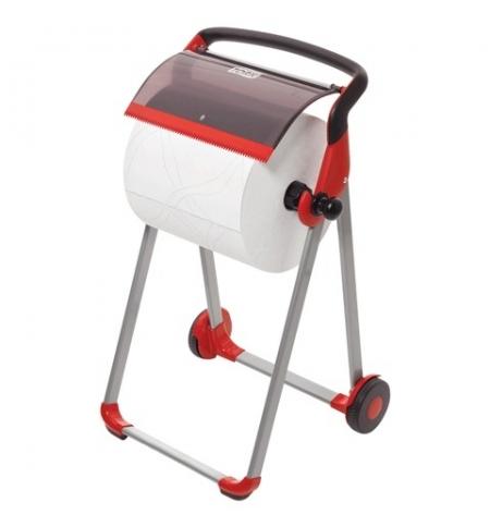 фото: Держатель для протирочной бумаги в рулонах Tork Performance W1 652008, напольный, красный