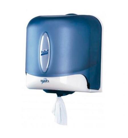 фото: Диспенсер для полотенец с центральной вытяжкой Lotus Reflex M4 473133, синий
