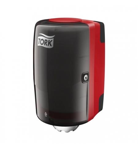 фото: Диспенсер для полотенец с центральной вытяжкой Tork Performance M2 659008, красный