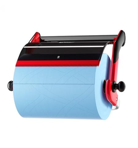 фото: Держатель для протирочных материалов в рулонах Tork Performance W1 652108, настенный, красный
