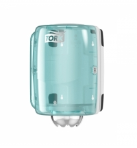 Диспенсер для полотенец с центральной вытяжкой Tork Performance M2 659000, бело-голубой