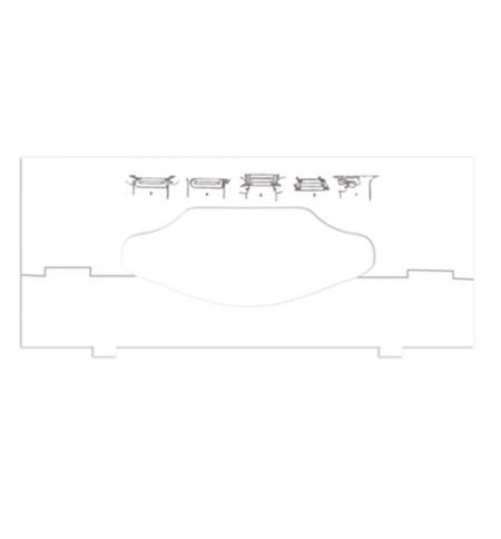 фото: Вставка в диспенсер для листовых полотенец Tork 202829-00, зигзаг