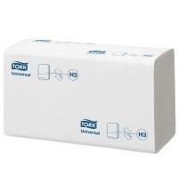 фото: Бумажные полотенца Tork Universal H3 120108, листовые, 250шт, 1 слой, белые