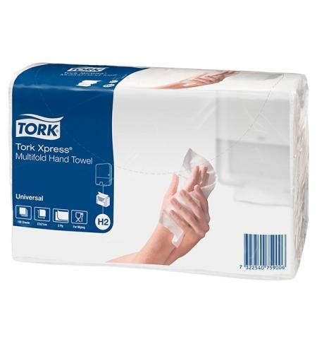фото: Бумажные полотенца Tork Universal H2 471103, листовые, 190шт, 2 слоя, белые