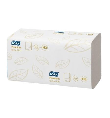 фото: Бумажные полотенца Tork Premium H3 100278, листовые, 200шт, 2 слоя, белые