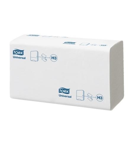 фото: Бумажные полотенца Tork Universal H3 290158, листовые, 300шт, 2 слоя, белые