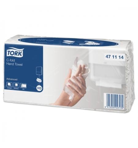 фото: Бумажные полотенца Tork Advanced H3 471114, листовые, 120шт, 2 слоя, белые