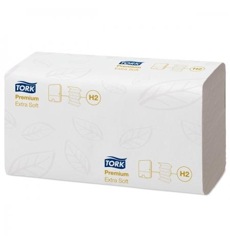 фото: Бумажные полотенца Tork Premium H2 100297, листовые, 100шт, 2 слоя, белые