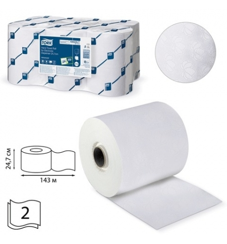 фото: Бумажные полотенца Tork Advanced H13 471110, в рулоне, 143м, 2 слоя, белые