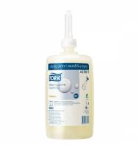 Жидкое крем-мыло в картридже Tork Premium S1 420810, для рук, антибактериальное, 1л