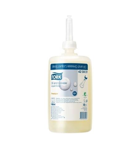 фото: Жидкое мыло в картридже Tork Premium S1 420401, для рук, от жировых и технических загрязнений, 1л