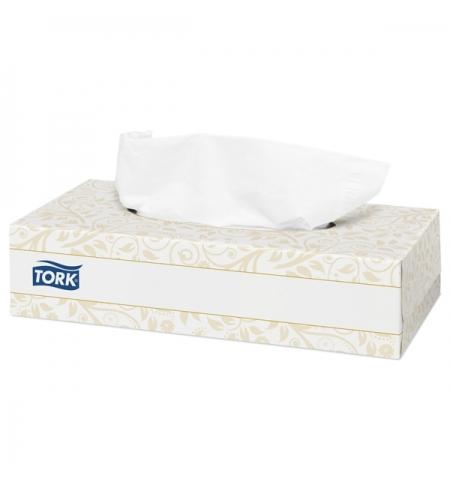 фото: Косметические салфетки Tork Premium F1 120380, для лица, 100шт, 2 слоя, белые