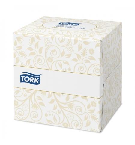 фото: Косметические салфетки Tork Premium F1 140278, для лица, 100шт, 2 слоя, белые