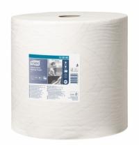 Протирочная бумага Tork повышенной прочности W1 130060, в рулоне, 340м, 2 слоя, белая