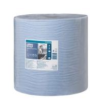 Протирочная бумага Tork Plus W1 130050, в рулоне, 510м, 2 слоя, голубая