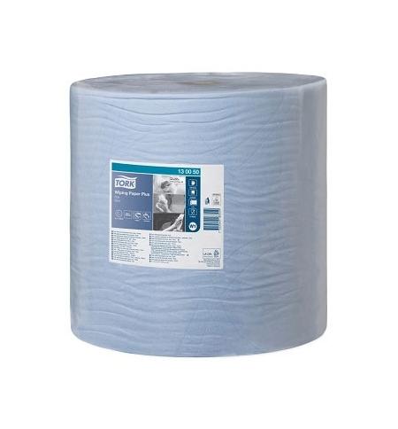 фото: Протирочная бумага Tork Plus W1 130050, в рулоне, 510м, 2 слоя, голубая