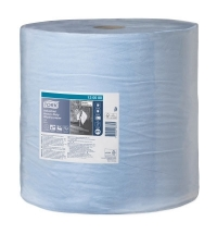 Протирочная бумага Tork суперпрочная W1 130080, в рулоне, 255м, 3 слоя, голубая