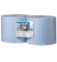 Протирочная бумага Tork Plus W1/W2 130081, в рулоне, 119м, 3 слоя, голубая
