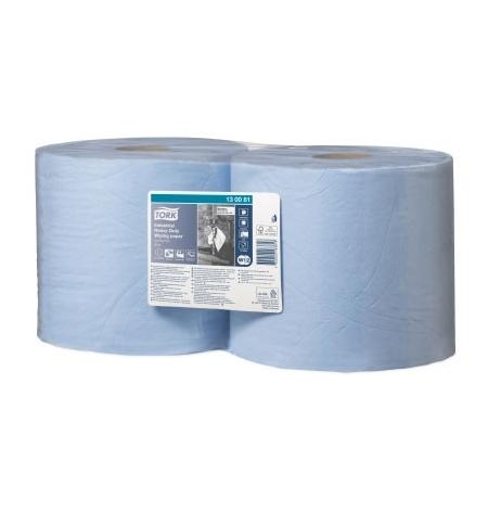 фото: Протирочная бумага Tork Plus W1/W2 130081, в рулоне, 119м, 3 слоя, голубая