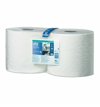 фото: Протирочная бумага Tork повышенной прочности W1/W2 130062, в рулоне, 170м, 2 слоя, белая