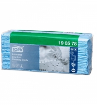 фото: Протирочные салфетки Tork экстра-безворсовые W4 190578, листовые, 80шт, 1 слой, синие