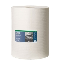 фото: Протирочный материал Tork Premium W1/W2/W3 510137, общего назначения, в рулоне, 152м, 1 слой, белый