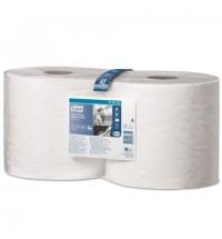 фото: Протирочная бумага Tork повышенной прочности W1/W2 130062, в рулоне, 170м, 2 слоя, белая, 1шт