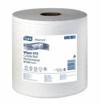 Протирочная бумага Tork универсальная W1/W2 130039, в рулоне, 340м, 1 слой, белая