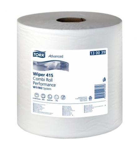 фото: Протирочная бумага Tork универсальная W1/W2 130039, в рулоне, 340м, 1 слой, белая