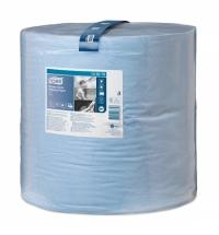 Протирочная бумага Tork повышенной прочности W1 130070, в рулоне, 340м, 2 слоя, голубая