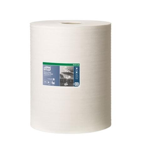фото: Протирочный материал Tork Premium W1/W2/W3 530137, повышенной прочности, в рулоне, 106.4м, 1 слой, белый