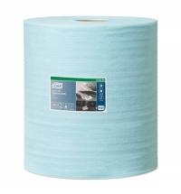 Протирочный материал Tork Premium W1/W2/W3 190494, безворсовый, в рулоне, 180м, 1 слой, голубой