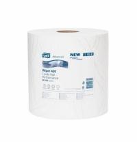 Протирочная бумага Tork Plus W1/W2 130041, в рулоне, 255м, 2 слоя, белая