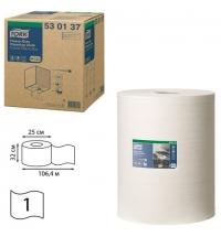 Протирочный материал Tork Premium W1/W2/W3 530137, повышенной прочности, в рулоне, 106.4м, 1 слой, белый