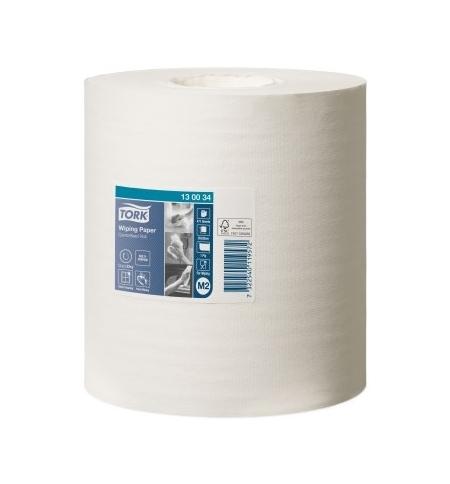 фото: Протирочная бумага Tork Premium M2 130034, в рулоне с центральной вытяжкой, 165м, 1 слой, белая