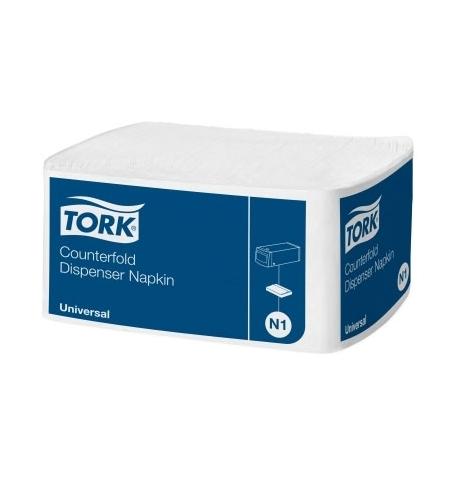 фото: Диспенсерные салфетки Tork Universal N1 10905, 1 слой, 250шт, белые