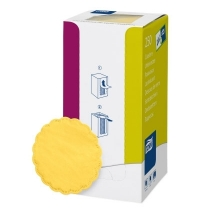 Подкладка под чашку Tork Advanced желтая d 9см, 8 слоев, 250шт, 470244