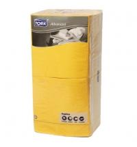 Салфетки сервировочные Tork Advanced желтые 33х33см, 3 слоя, 250шт, 18343