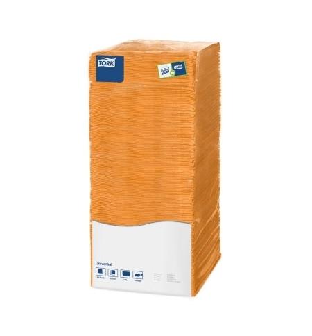 фото: Салфетки сервировочные Tork Universal оранжевые 25х25см, 1 слой, 500шт, 470117