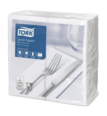 фото: Салфетки сервировочные Tork Advanced белые 39х39см, 2 слоя, 150шт, 477554