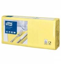 фото: Салфетки сервировочные Tork Advanced желтые 33х33см, 2 слоя, 200шт, 477841