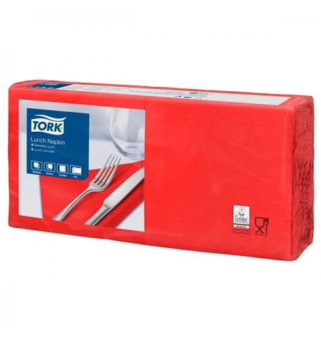 фото: Салфетки сервировочные Tork Advanced красные 33х33см, 2 слоя, 200шт, 477210